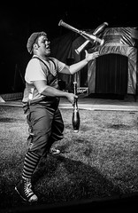 Clown at the circus (sophie_merlo) Tags: bw circus clown clowns johnlawsonscircus