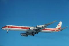 N801WA World Airways DC-8-63CF Feb78 in KCLE (GeorgeM757) Tags: world aviation cleveland hopkins kcle dc863cf georgem757 n801wa