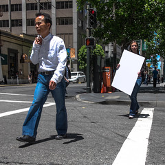 orbicularly outbrave capitalizations (bhautik_joshi) Tags: sf sanfrancisco california street people walking unitedstates walk candid streetphotography pedestrian sidewalk bayarea pedestrians fromthehip sfist bhautikjoshi