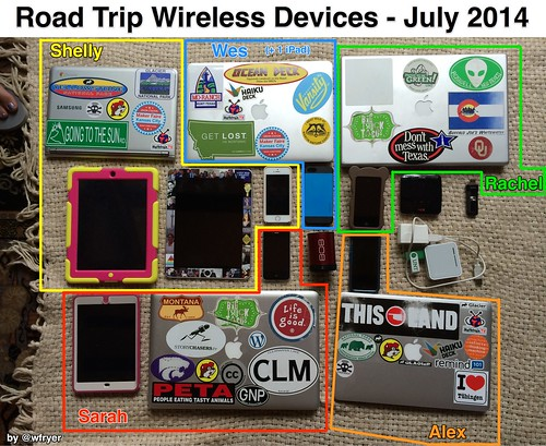 Road Trip Wireless Devices by Wesley Fryer, on Flickr