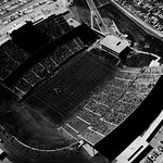 Aerial view of Carter Stadium on dedication day, October 8; 1966.