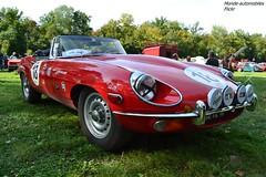 Jaguar Type E Srie 2 Cabriolet (Monde-Auto Passion Photos) Tags: auto automobile jaguar typee cabriolet srie rouge france 48h montargis villemandeur domaine lisledon