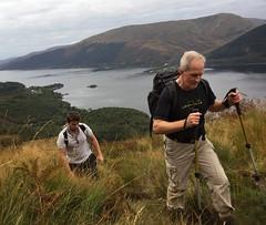 Steady progress up the hill (barronr) Tags: scotland lochlomondthetrossachsnationalpark benlomond theptarmigan loch lomond
