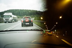 Tunnel vision (iampaulrus) Tags: paulfargher paulfargherphotography colour color 35mm film filmisnotdead lomography lomo lca splitzer doubleexposure multipleexposure driving tunnel photoexpresshull