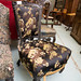 Occasional armchair black and gold fabric â¬120