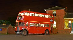 London Bus Company RTW 75, KGK 575, fills up with passengers at North Weald, whilst on Rail Replacement Duties. 08 10 2016 (pnb511) Tags: londonbuscompany northwealdstation eppingongarrailway trains heritage railway red doubledecker bus