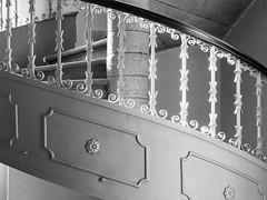 Stair railing (schauplatz) Tags: bayerischerwald bayerwald deutschland lamerwinkel urlaub cham architektur architecture gegenlicht backlighting backlight wendeltreppe treppengelnder kirche church