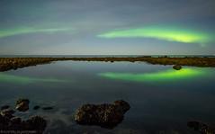 Clear Water and Northern Lights Reflection (katrin glaesmann) Tags: garur iceland northernlights auroraborealis nordlicht polarlicht unterwegsmiticelandtours photographyholidaywithicelandtours
