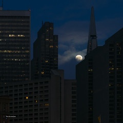 Moon (davidyuweb) Tags: moon san francisco sfist luckysnapshot after rain before