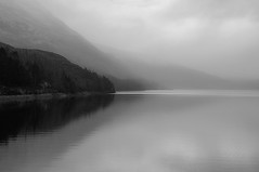 Play misty For Me (Brian Travelling) Tags: playmistyforme highlands westhighlands lochtreig mono misty fog weather tranquil tranquility trees blackandwhite reflection reflections reflecting reflect lochaber mountains mountain outdoor outdoors outside landscape pentaxkr pentax pentaxdal hills interesting loch nature natural peaceful scenery scenic scotland sky unitedkingdom uk rural water