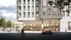 Жилой комплекс над станцией метро в Копенгагене от COBE