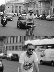 [La Mia Citt][Pedala] (Urca) Tags: milano italia 2016 bicicletta pedalare ciclista ritrattostradale portrait dittico nikondigitale mir bike bicycle biancoenero blackandwhite bn bw 895110