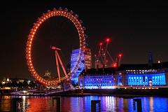 Day #3222 (cazphoto.co.uk) Tags: project366 beyond2922 261016 panasonic lumix dmcgh3 panasonic1235mmf28lumixgxvarioasphpowerois dark lights reflections countyhall londoneye london riverthames