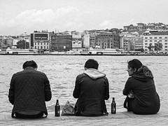 adam in turkey two 420 bw (adamlucienroy) Tags: panasonic gh4 lumix primelens summer tuborg streetphotography grain bw blackandwhite istanbul karakoy turkey turkia turkiye beer