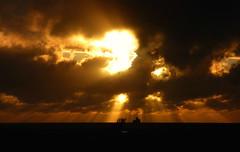 Burn baby burn (Peanut1371) Tags: cleethorpes sunrise sun clouds orange fort