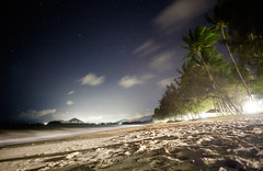 Lights of Cairns (MattCCttaM) Tags: lights trees palm astrophotography stars city cairns night longexposure palmcove clouds