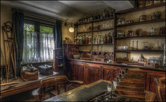 Ironbridge Doctors Surgery (Darwinsgift) Tags: blist blists hill victorian town village telford ironbridge museum doctors house surgery medical supplies vintage antique nikon d810 nikkor 20mm f18 g hdr photomatix photoshop accessories doctor gp