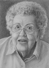 """Momma"" (bellydanser) Tags: portrait pencilportrait graphite graphitedrawing drawing people art artwork fineart blackwhite monochromatic pencil"