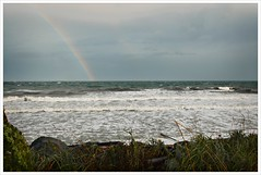Rainbow over and angry ocean (Free 2 Be) Tags: britishcolumbia waves rainbow pacificocean weather stockcategories ocean westcoast campbellriver seashore afsdxvrzoomnikkor18200mmf3556gifedii