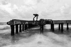 @ Thalankuppam Pier,Chennai (vjisin) Tags: clouds seashore monochrome india asia sea seaside blackandwhite outdoor pier thalankuppam chennai fisherman humanelement iamnikon indianfisherman travel breezy noise ngc