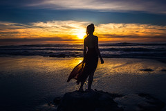 Wonder (West Leigh) Tags: wanderlust wander wonder sunset oregon oregoncoast sea ocean water travel dream discover live sun nature wandress explore experience woman dress silhouette sky reflection