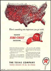 Fire Chief Gasoline : Texaco (OldAdMan) Tags: oldadman advertisements advertising vintage paper texaco thetexascompany firechief gasoline
