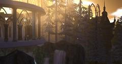 Avilion (Osiris LeShelle) Tags: secondlife second life avilion heart medieval fantasy roleplay winter snow forest valinor awen shrine mystic falls light sim