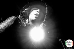 Breathe ([Sushi]) Tags: palcoscenico singer cantante wishlistclub amortelamore longhair lips bocca mouth labbra luce lights light italianstail blackandwhite blackwhite bn bw onstage band italian italy roma rome rockclub club livemusic musicalive biancoenero