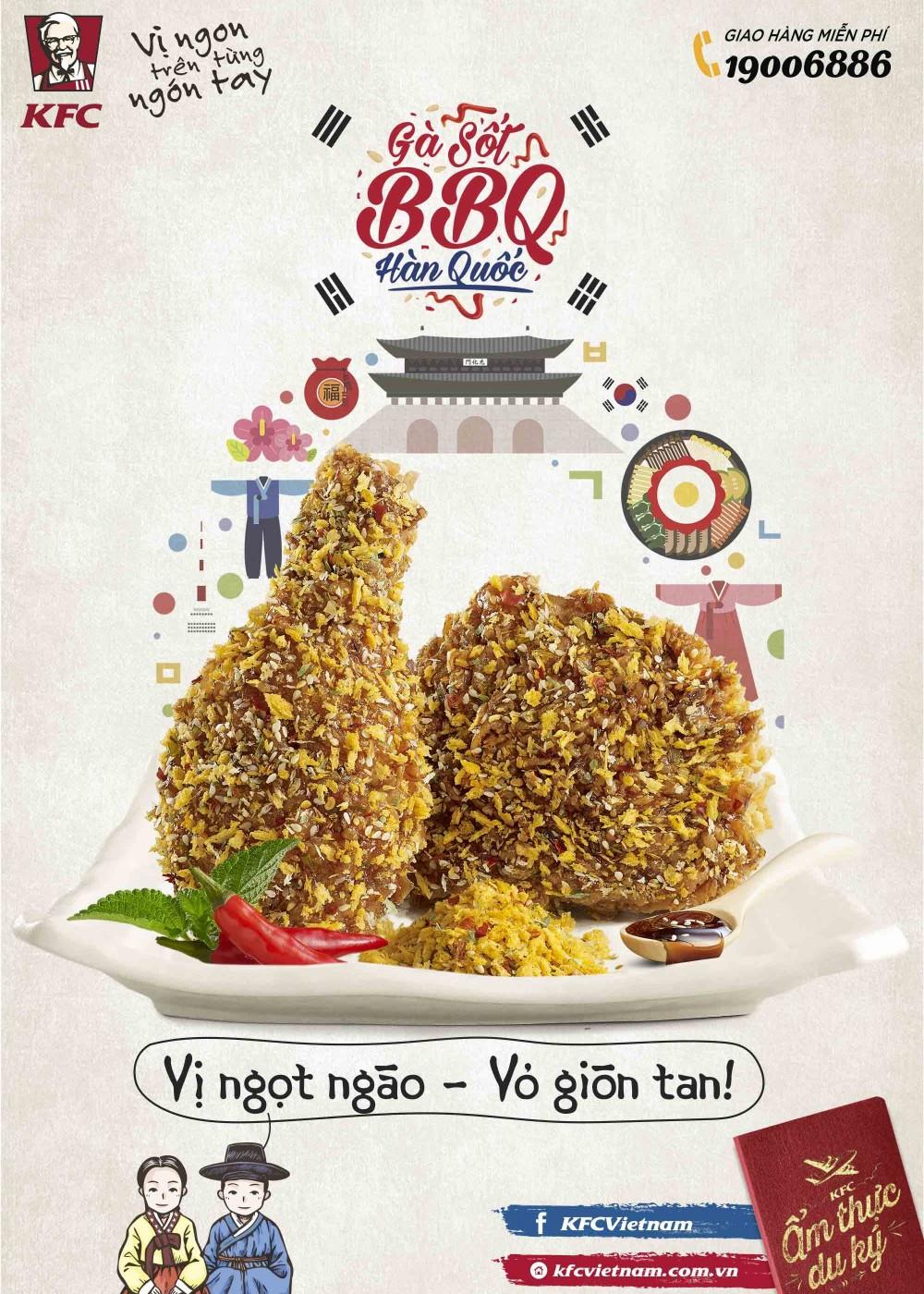 Gà Sốt BBQ Hàn Quốc - Món đỉnh mới của KFC