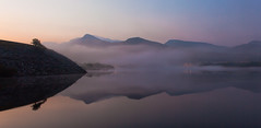 Misty Snowdonia Sunrise (chris watkins wales) Tags: photography landscpae snowdonia north wales llyn lake padarn sunrise misty