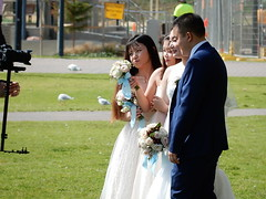 Not Everyone's Looking (mikecogh) Tags: glenelg wedding couple party camera put admiration flowers roses pout