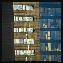 Strips of Architecture (Ilan Shacham) Tags: windows abstract architecture reflection transperance repetition pattern texture fineart fineartphotography geometry lines raanana israel