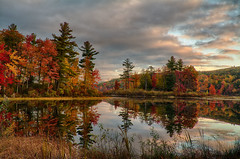 The-Beauty-Of-Autumn (desouto) Tags: nature hdr landscape trees ponds reserviors lakes sky color autumn leaves wildfilowers road forest rivers wildflowers clouds snow