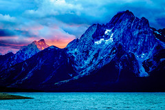 Glowing Mountain Sunset (FJMaiers) Tags: sunset grand teton national park mountain