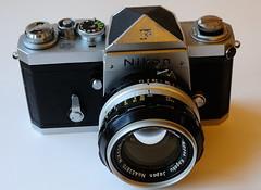 Early Serial Nikon F (Man with Red Eyes) Tags: d3 nikon slr digital nikkor55mmf35 nikonf film mechanicalcamera earlyserial nikkors50mmf14 cameraporn nipponkogaku