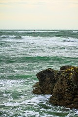 Gavres under the storm (nlecam) Tags: seascape sea seashore ocean sky water blue coast shore waves storm bretagne gavres