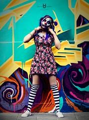 Evil Clown (David.Herrera) Tags: david herrera clown payaso malvado evil malo terror graffiti regina urban urbano calle payasa malavada davidherrera davidherreramx cool colours colores sangre blood cdmx mexico city df awesome street ladies chido davidherrerephotography centro downtown