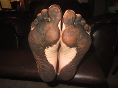 IMG_0001 (Elizabeth Townsend) Tags: dirty feet soles filthy black gre oily female