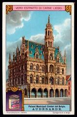 Liebig Tradecard S1170 - Town Hall, Oudenaarde (cigcardpix) Tags: tradecards advertising ephemera vintage liebig architecture