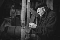 Guide in mill (I.Dostl) Tags: mil guide machine man old speech fuji x100t fujifilm
