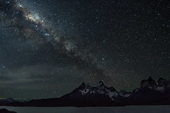 Stars in Stripes (Tim Melling) Tags: milky way night sky stars mountains andes torres del paine timmelling chile lake pehoe