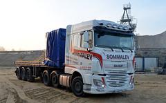 "DAF XF 510 euro 6  Semi-Remorque Plateau ""SOMMALEV"" (F-80) (xavnco2) Tags: camions truck trucks lorry autocarro lkw semiremorque semitrailer plateau flatbed daf xf 510 euro6 pontfire"