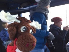 IMG_2158 1 (The Crochet Crowd) Tags: crochetmoose amigurumi moose crochet doll alaska britishcolumbia thecrochetcrowd michaelsellick jeannesteinhilber danielzondervan crochetcruise mooseontheloose