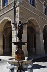 """""""L't"""", statue-fontaine des Quatre saisons, A Durenne, place de la Rpublique, Fleurance, Armagnac, Gers, Occitanie, France. (byb64) Tags: fleurance armagnac lomagne gers gascogne gascony gascona gasconha midipyrnes 32 occitanie france francia frankreich europe europa eu ue village pueblo borgo paysdegaure halle place plaza piazza townsquare platz arcades hteldeville mairie townhall 19th xixe pierre statue estatua escultura sculpture bronze fontaine fontana fountain saison durenne"""