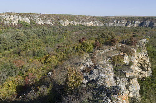 View over the valley of Rusenski Lom River, 12.10.2014.