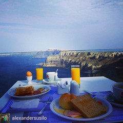 Breakfast at Suites of the Gods Hotel  #Santorini (bookingsantorini) Tags: santorini greece travel holiday hotel villa bookingsantorini greekisland cyclades vacation santorinihotels trip traveller aegean mediterranean travelgreece greek