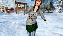 Watch Out, Coming Through (QueenBrat Bracken) Tags: 2016wintershowcase teamdiabetes secondlife model figureskating sweater lights winter sweetes