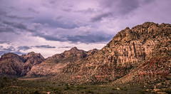 Mountain Range and Stormy Skies (Adam Yurkunas) Tags: las vegas red mountains rock canon landscape skies cloudy scenic canyon 600d lightroom4