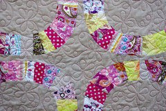 Single-Girl-Quilt-detail (QOB) Tags: quilt quilted patchwork denyseschmidt qob longarmmachinequilted singlegirlquilt quiltsonbastings