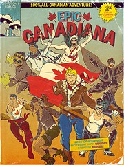Epic Canadiana Cover Art (0n3d0v3) Tags: illustration photoshop comics graphic canadian retro superhero illustrator vector anthology johnnycanuck theloon
